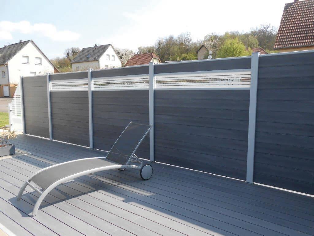 Brise Vue Terrasse Bois panneaux - pare-vue - aluminium - bois - composite - habsheim